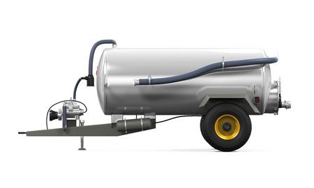 manure: Vacuum Manure Spreader Stock Photo