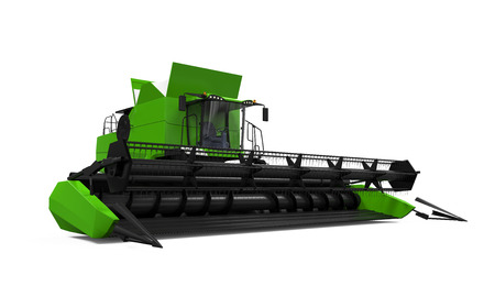 Combine Harvester Isolated