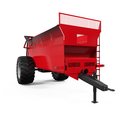 Agricultural Trailer Isolated photo