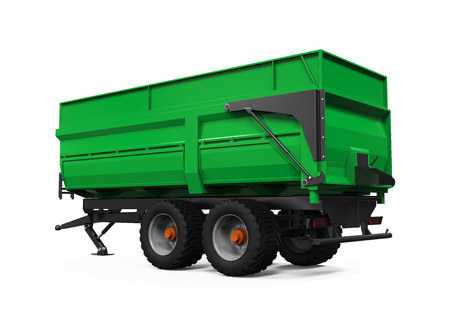 agricultural: Agricultural Trailer Isolated Stock Photo