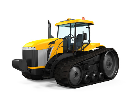 Track Tractor Isolated photo