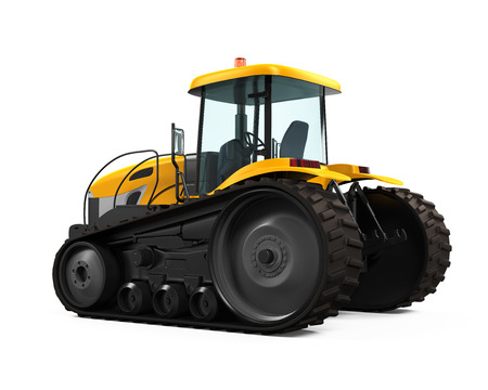 3d Tractor Isolated photo