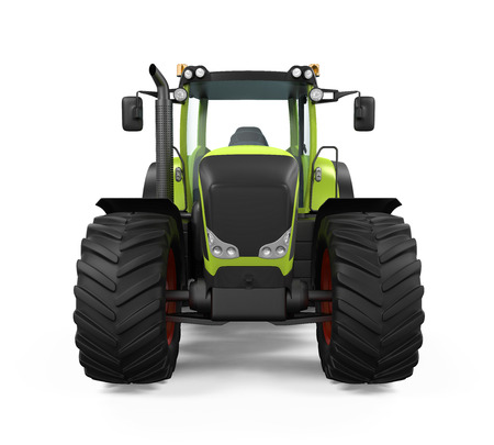 Green Tractor Isolated photo