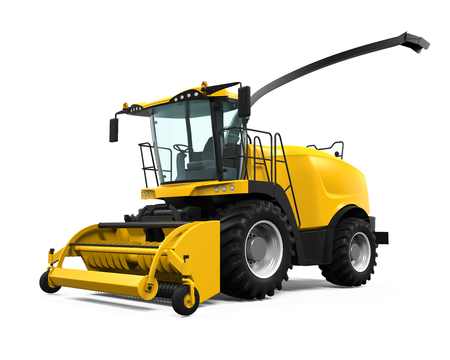 Yellow Forage Harvester photo
