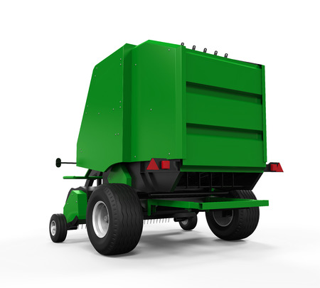 bale: Agricultural Baler Isolated Stock Photo