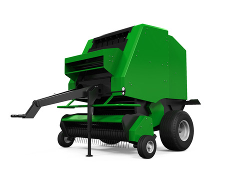 baler: Agricultural Baler Isolated Stock Photo
