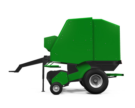 agricultural: Agricultural Baler Isolated Stock Photo