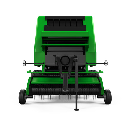 hay bale: Agricultural Baler Isolated Stock Photo