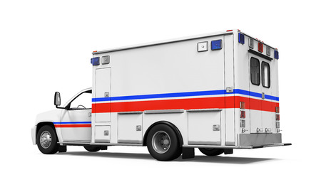 Ambulance Car Isolated photo
