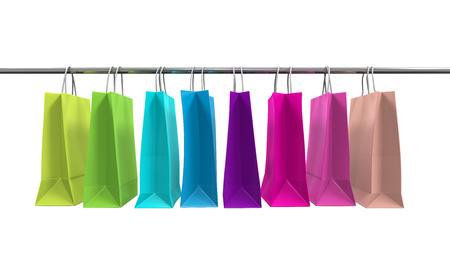 choosing clothes: Colorful Shopping Bags