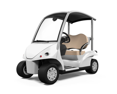 electric hole: Golf Car Isolated Stock Photo