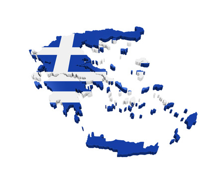greece flag: Greece Map Isolated