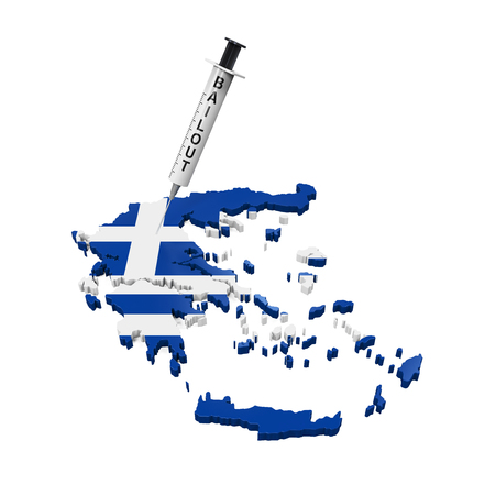 crisis economica: Grecia Crisis Econ�mica Ilustraci�n
