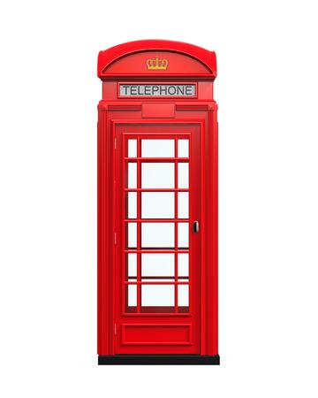 cabina telefono: Brit�nico Cabina de tel�fono rojo Foto de archivo