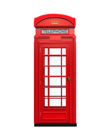 telefono antico: Britannico Red Telephone Booth Archivio Fotografico