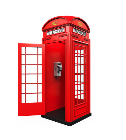 Colombie Red Telephone Booth Banque d'images - 36910953
