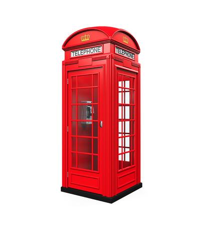 cabina telefonica: Británico Cabina de teléfono rojo Foto de archivo