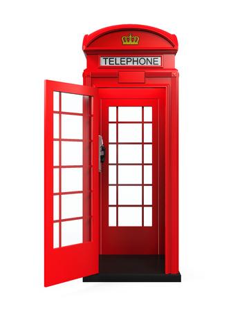 cabina telefonica: Brit�nico Cabina de tel�fono rojo Foto de archivo