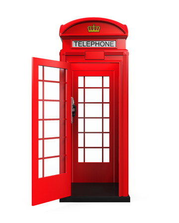 antique booth: British Red Telephone Booth