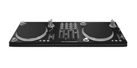 dj turntable: DJ Turntable Isolated Stock Photo