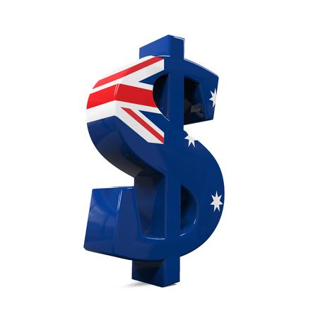 australian money: Australian Dollar Symbol Stock Photo