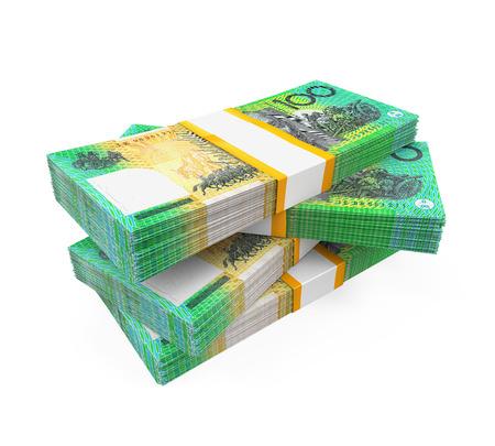 hundred dollar bill: Stacks of 100 Australian Dollar Banknotes