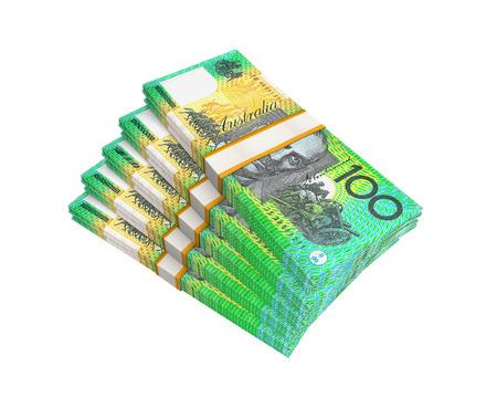 australian dollar notes: Stacks of 100 Australian Dollar Banknotes