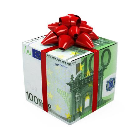 ユーロのお金のギフト ボックス