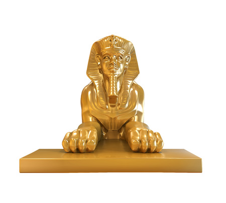 ancient egyptian civilization: Egyptian Sphinx Statue Stock Photo