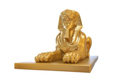 Sphinx: Egyptian Sphinx Statue Stock Photo