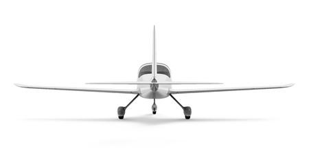 private jet: Light Aircraft Isolated Stock Photo