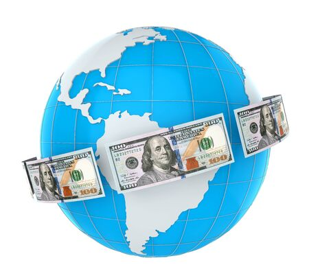 dinero volando: Dinero que vuela en todo el mundo