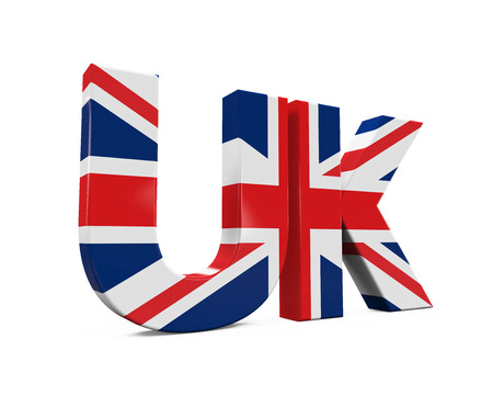 uk: UK Text with Flag