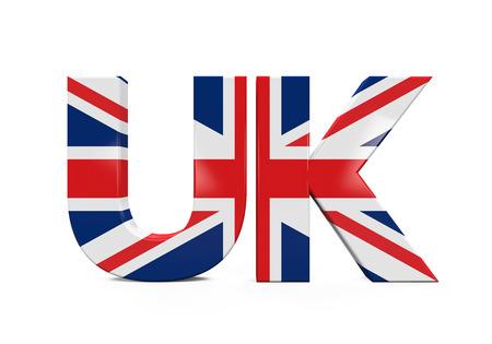 bandera de gran bretaña: Texto del Reino Unido con la bandera Foto de archivo