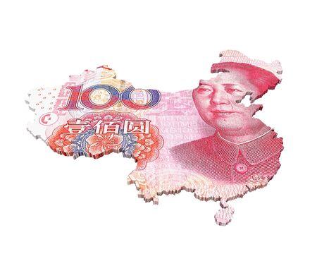 Chinese Yuan Map photo