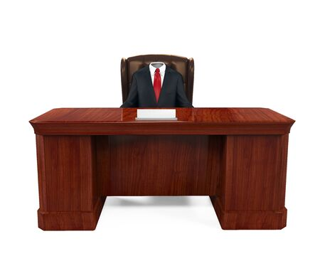 empty chair: Empty Suit Figure Sitting Stock Photo