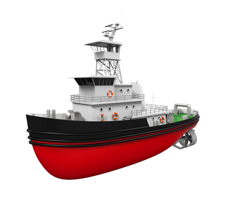tug boat: Tugboat Isolated