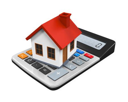 calculator icon: Calculator and House Icon