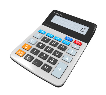 calculator money: Calculator Isolated Stock Photo