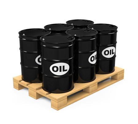 barel: Pallet of Oil Drums Stock Photo
