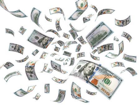 Regen van dollars Stockfoto