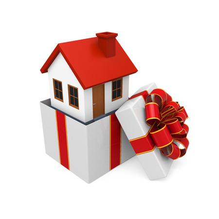 House Gift Isolated photo