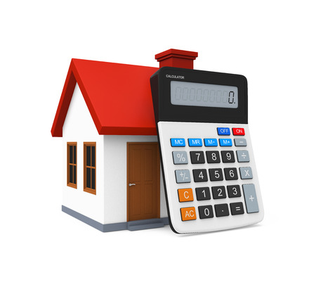 calculator money: Calculator and House Icon