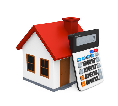 Calculator and House Icon photo