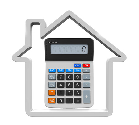 mortgage rates: Calculator and House Icon