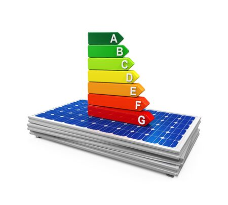 Energy Efficiency Rating on Solar Panel photo