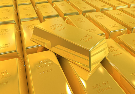 futures: Gold Bars Isolated Stock Photo