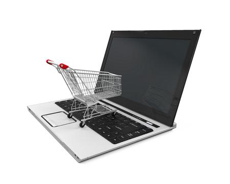 mart: Online Shopping Illustration Stock Photo