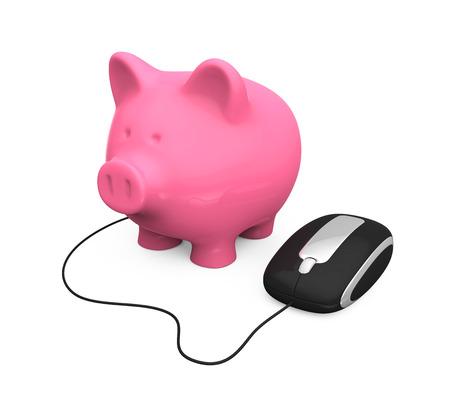 Online Banking Illustration illustration