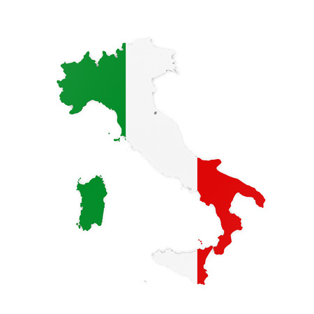 nations: Italy Map Isolated Stock Photo